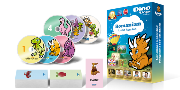 Romanian for kids Standard set - Dino Lingo Checkout