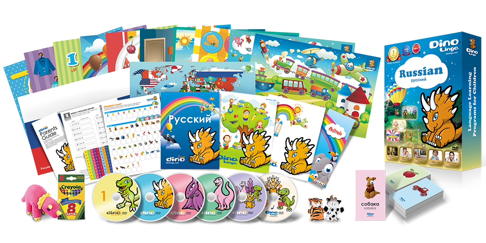 Russian for kids Deluxe set - Dino Lingo Checkout