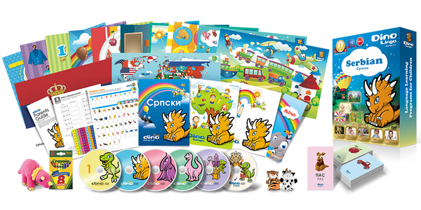 Serbian for kids Deluxe set - Dino Lingo Checkout