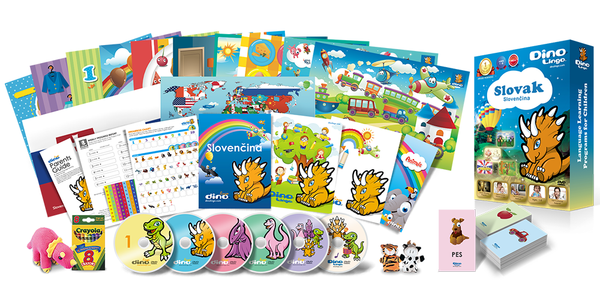 Slovak for kids Deluxe set - Dino Lingo Checkout