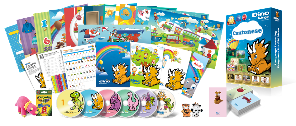 Cantonese for kids Deluxe set - Dino Lingo Checkout