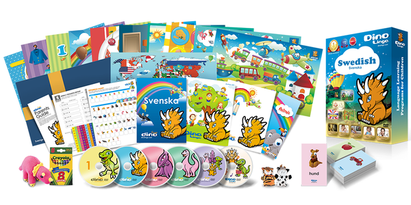 Swedish for kids Deluxe set - Dino Lingo Checkout