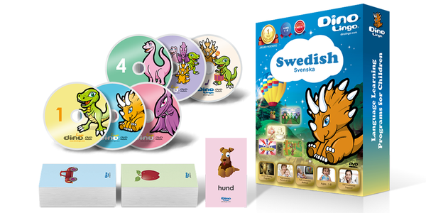 Swedish for kids Standard set - Dino Lingo Checkout