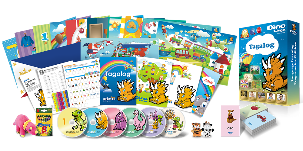 Tagalog for kids Deluxe set - Dino Lingo Checkout