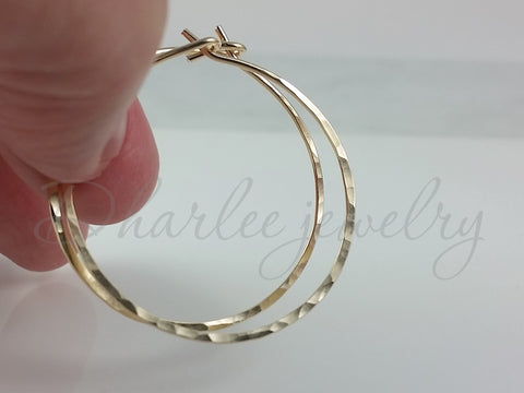 14K Gold Filled Hoop Earrings, Choose Your Size