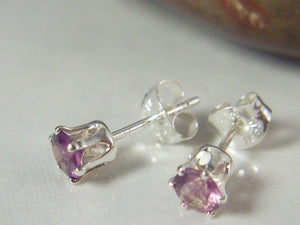 4mm Alexandrite Stud Earrings