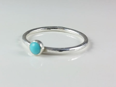 4mm Turquoise Cabachon Stacking Ring