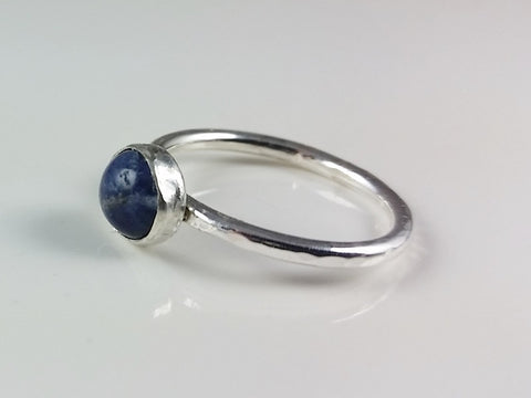 Copy of 6mm Sodalite Cabachon Stacking Ring