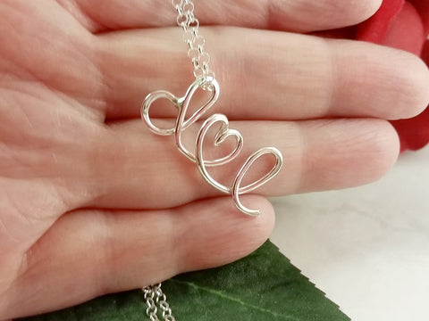 Sterling Silver I Heart U Necklace