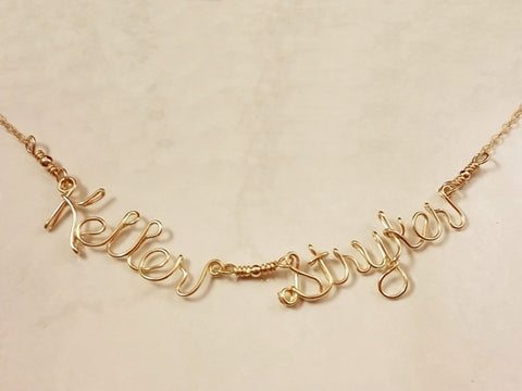 14K Gold Filled Two Name Necklace
