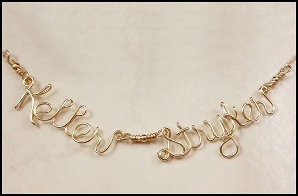 Sterling Silver Two Name Necklace