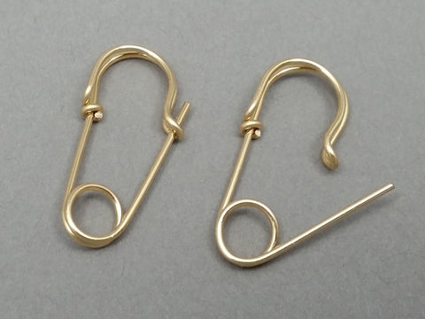 14K Gold Filled Safety Pin Earrings