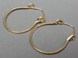 14K Gold Filled Hinged Hoop Earrings