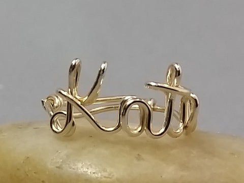 14K Gold Filled Name or Word Ring