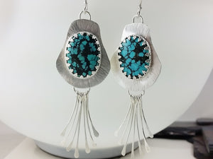 Southwest Style Kingman Turquoise Dangle Earrings