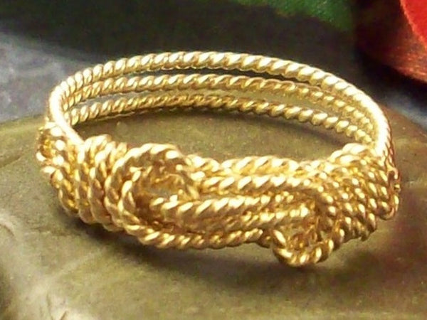 14k Gold Filled Rope Knot Ring