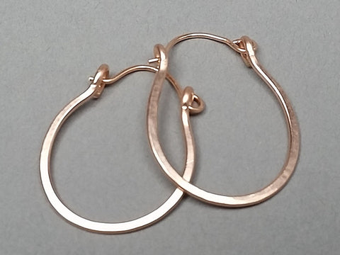 14K Rose Gold Filled Hinged Hoop Earrings