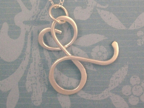 Sterling Silver Smaller Initial Necklace