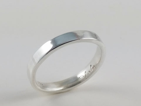 Sterling Silver Comfort Fit Wedding Band