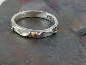Size 7.5 Sterling Silver One Of a Kind (OOAK) Ring Band