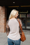 Glitz and Glam Taupe Top - Thongin' It Boutique