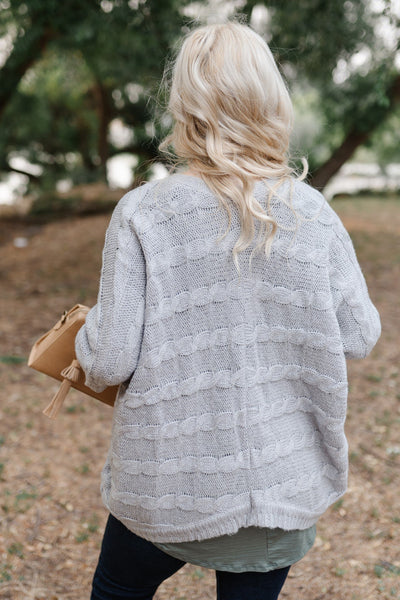 Gray For All Seasons Knit Cardigan - Thongin' It Boutique