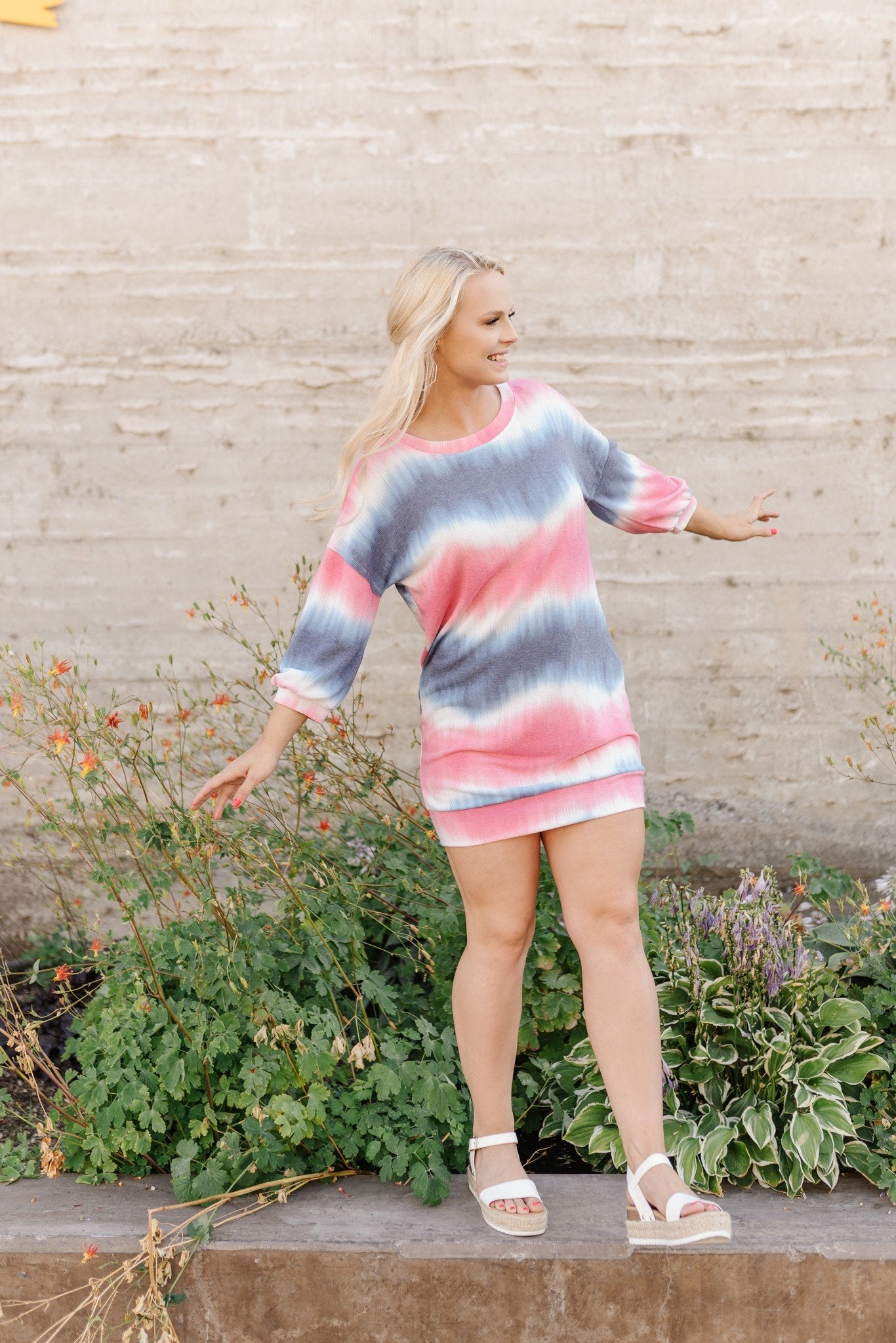 Berry Tie Dye Dress
