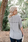 Sandstone Grey Knit Top - Thongin' It Boutique