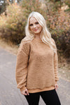 All Hail Sherpa Sweater In Camel - Thongin' It Boutique