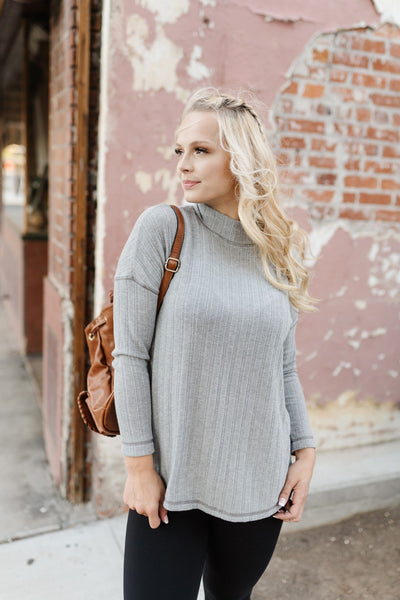Like A Rolling Stone Mock Turtleneck - Thongin' It Boutique