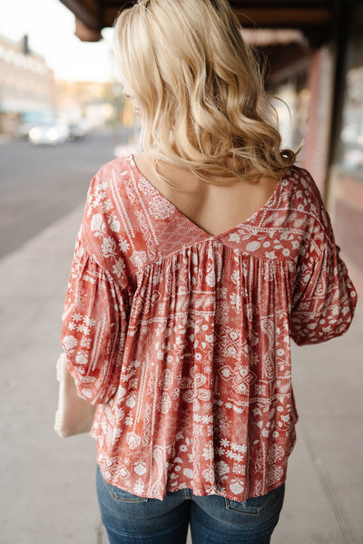 Rustic Times Peasant Top - Thongin' It Boutique
