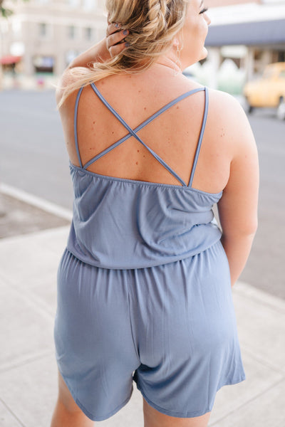 French Blue Romper