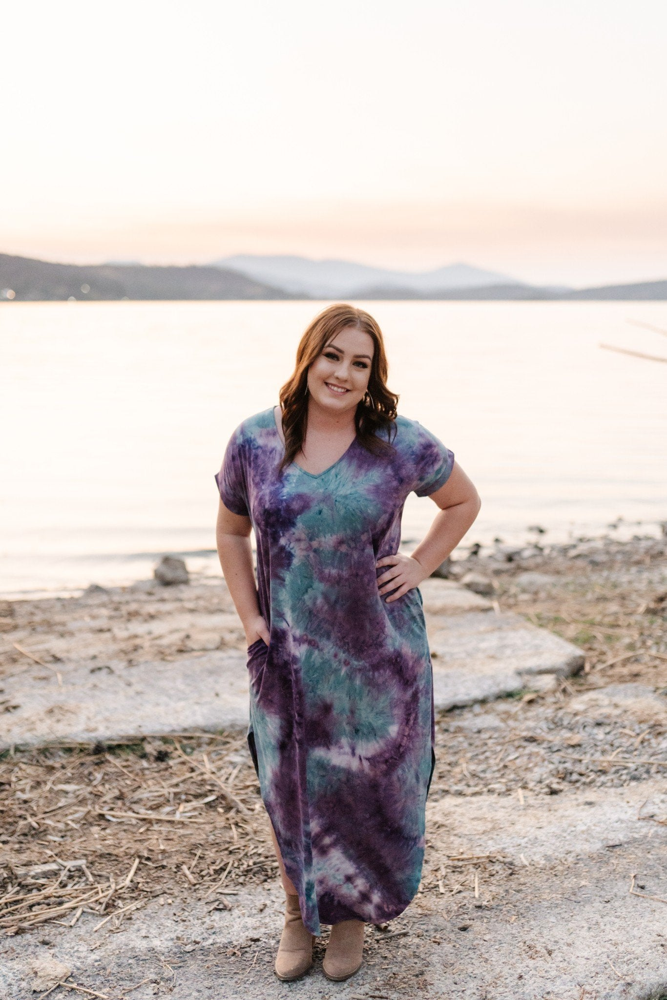 Strike Our Fancy Maxi Dress In Purple Haze - Thongin' It Boutique