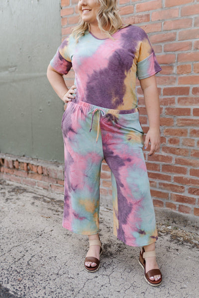 Cotton Candy Rainbow Tie Dye Joggers - Thongin' It Boutique