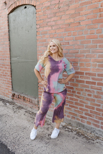 Cotton Candy Rainbow Tie Dye Top - Thongin' It Boutique