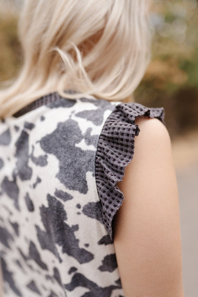 The Perfect Flirt Sleeveless Ruffled Top