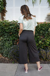Splendid Charcoal Gaucho Pants