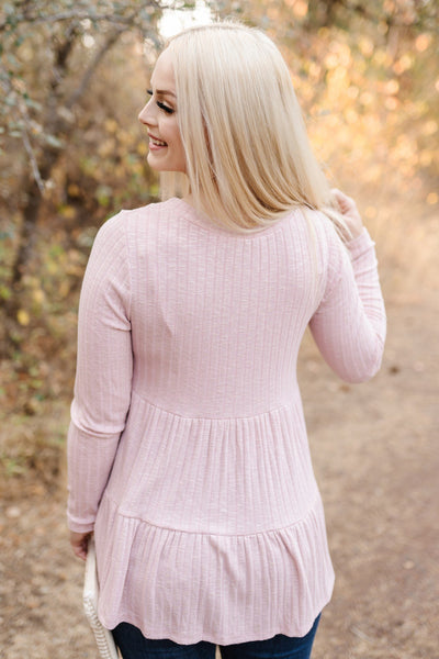 Winning In Rose Tiered Top