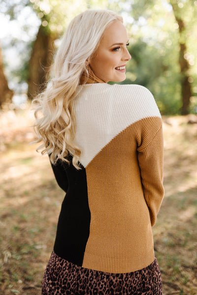 Shift To Neutral Chevron Sweater - Thongin' It Boutique