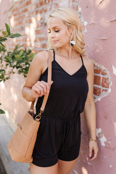 Still Waters Black Romper - Thongin' It Boutique