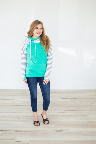 Mint for You Raglan Hoodie - Thongin' It Boutique