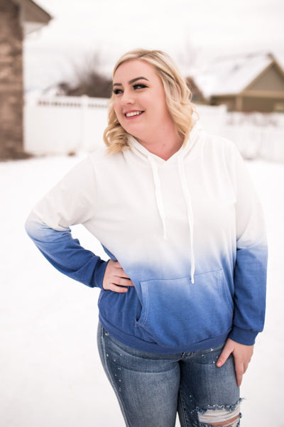 Just A Little Jazz Hoodie In Blue Ombre' - Thongin' It Boutique