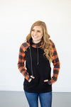 Retro Plaid Hoodie - Thongin' It Boutique