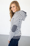Charcoal Striped Hoodie - Thongin' It Boutique