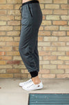 Accent Joggers | Charcoal and Black - Thongin' It Boutique