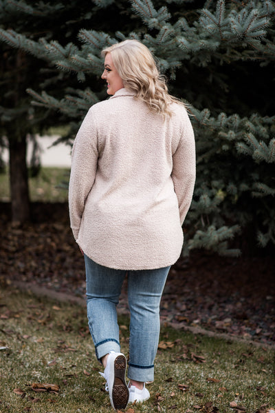 Pulled One Over On You Sherpa In Blush - Thongin' It Boutique