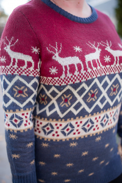 Reindeer Crossing Sweater