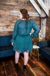Catch A Falling Star Dress In Teal - Thongin' It Boutique