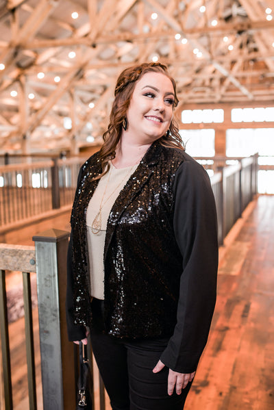 Here For The Party Sequined Jacket - Thongin' It Boutique