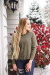 Double Vision Long Sleeve Top In Frosted Pine - Thongin' It Boutique